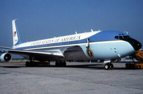 The VC-137C, one of the Boeing 707s that predated the current Air Force One
