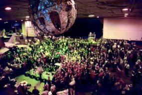 2001 New Year's Eve party in the USS Theodore Roosevelt hangar bay