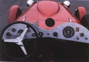 The view from behind the wheel of the Allard J2X.