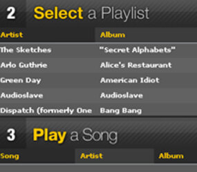 AIM Tunes allows users to create playlists.