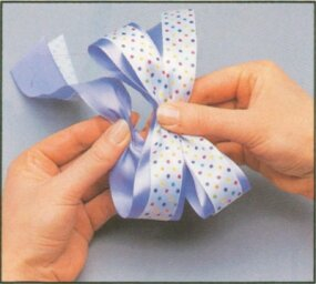 Continue looping the ribbon.