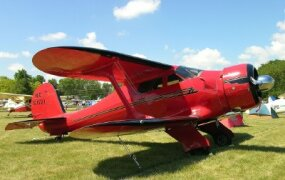 Racer Jackie Cochran set many speed records in her Beech Staggerwing.