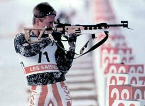 Josh Thompson, the first American to win a medal at the World Biathlon Championships