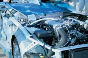 Hydrogen combustion engine in the H2R