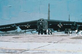 Boeing B-52 Stratofortresses pummeled Iraqi forces during the Persian Gulf War.