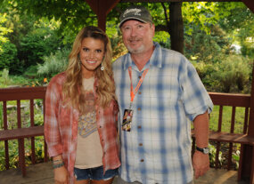 Jessica Simpson, left, relies on her booking agent Gil Cunningham, right, to get her into movies.