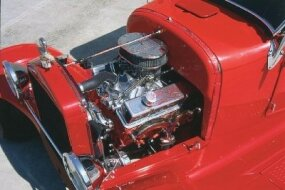 The Booth '27 T originally held a Chevy 283-cid V-8 engine that was later replaced with a Chevy 350.