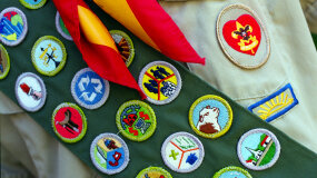 boy scout merit badge sash