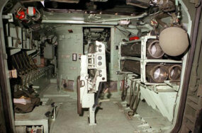 Interior view of the M3 Bradley