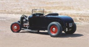 The Bud Bryan '29 Roadster was intentionally built using vintage components, one of the first of such hot rods.