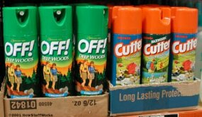 You can find spray-on repellents at most stores. These sprays often contain DEET.