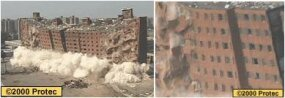 The Scudder Homes in Newark, N.J., blasted by Engineered Demolition, Inc. in the summer of 1996