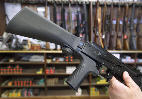 bump firing stock, automatic weapon