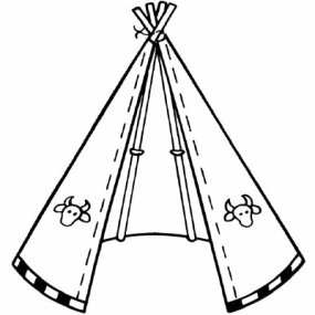 Admire your authentic Native American Tepee.