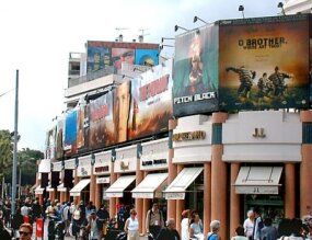 Each year, the Croisette is draped with ads for festival and upcoming films.