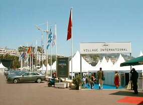 Village International: Tent-city outside the Palais.