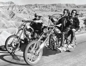 The Captain America starred in Easy Rider.