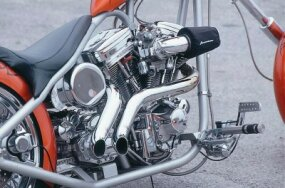 Exhaust and chrome plating.