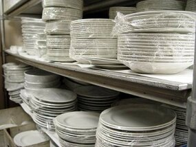 Photo courtesy Joel                              The plastic wrap on these plates keeps them fresh and clean for the next function.