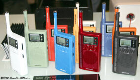 The Mini 300PE AM/FM/shortwave radio in lots of colors