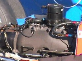 The manifold and valve in Motorola's car