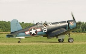 Prior to 1944, America utilized the Corsair as a land-based fighter assigned to the Marine Corps.
