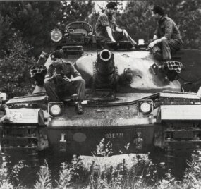 A Chieftain Main Battle Tank belonging to the 17/21st Lancers, British Army of the Rhine.