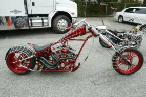 "Orange County Choppers' ""Spiderman"" Bike"