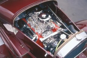 A Chrysler Hemi engine and LaSalle transmission powered the Chrisman Model A Sedan to 129 mph.