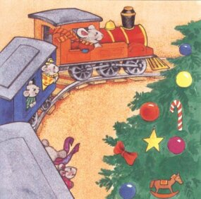Walter Whiskers and the moueskins just knew the train would be a perfect fit -- so, they hopped aboard for a ride!