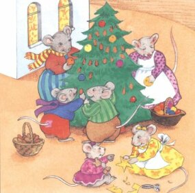 The Whiskers family had plenty of decorations now to create their very own special Christmas tree.