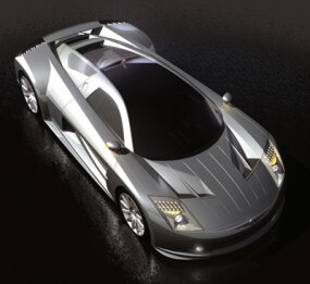The ME sports a futuristic, carbon-fiber body.