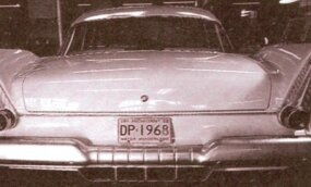 Note the four central exhaust outlets on this 1958 Plymouth carrying the CR2 turbine engine.
