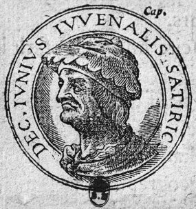 engraving of ancient roman latin poet juvenal