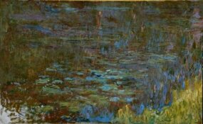 Claude Monet's Sunset is housed at                              Musee de l'Orangerie, Paris. (Right panel)