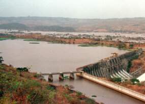 One of the Inga dams, languishing in a state of disrepair.