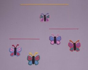 Hang your Flittering Butterflies mobile and watch them fly.