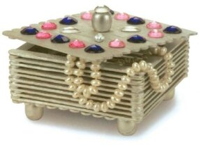 A finished gemstone jewelry box.