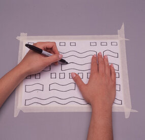 Trace the pattern onto tracing paper.