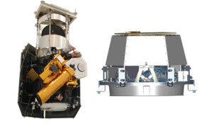 Flyby spacecraft (left) and impactor (right)