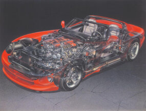 The Viper RT/10 has all-independent suspension, but no anti-lock brakes or driver-side air bag.