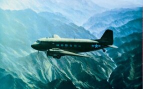 Flights from India to China were treacherous, taking Douglas C-47s over the Himalayas, where there was no place to land, and no turning back. The Chinese airfields that awaited the transports were regularly bombed and strafed by Japanese planes, so few landings were routine.