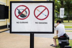 durian sign banning