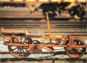 "Manufactured around 1890, this Southern Pacific ""Velocipede,"" a type of handcar, was still in use as late as the 1940s."