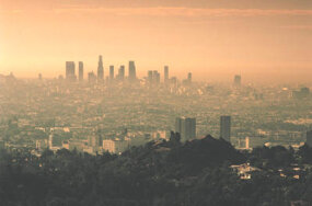 At ground level, ozone is a component of smog.