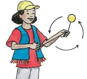 Swing the yo-yo in three or more pinwheel circles.