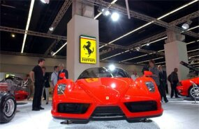 Enzo on display at the Frankfurt Motor Show