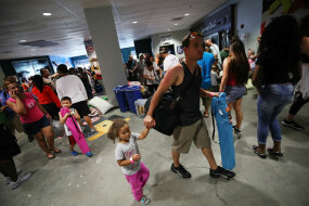 hurricane irma evacuees in florida arena
