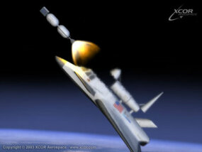 Artist's rendering of the Xerus launching a small payload