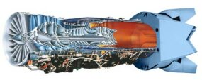 Cutaway of Pratt & Whitney F119 engine